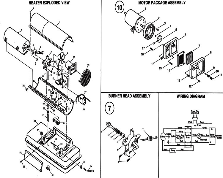 reddy heater parts ignitor wiring diagrams
